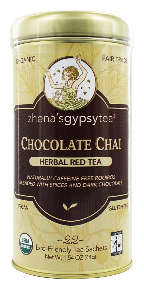 Zhena's Gypsy Tea - Harvest Herb Tea Chocolate Chai Caffeine Free - 22 Tea Bags