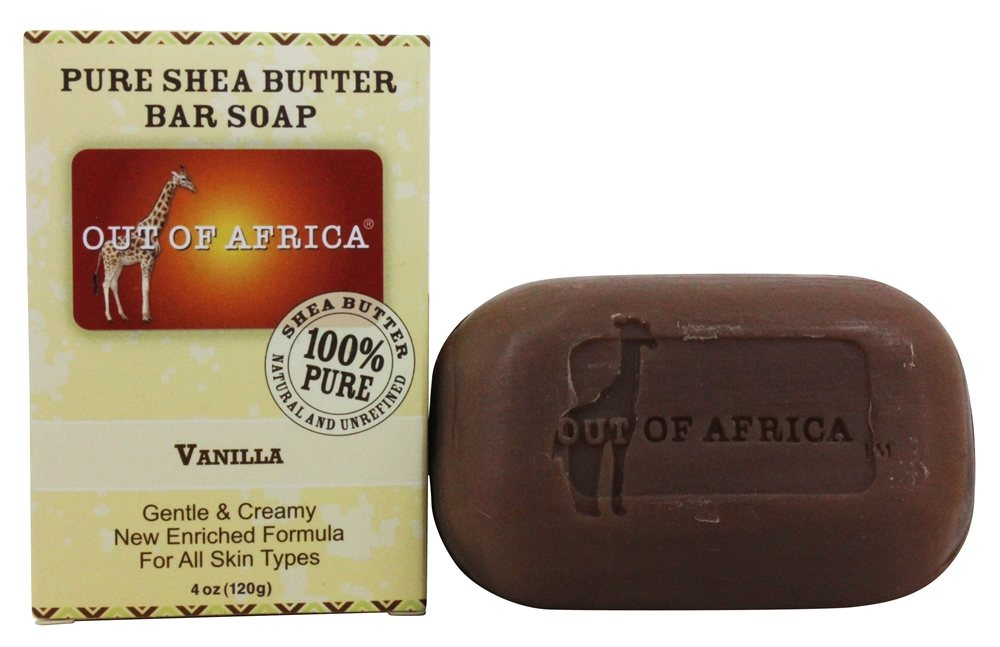 Out Of Africa - Pure Shea Butter Bar Soap Vanilla - 4 oz.