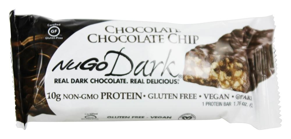 NuGo Nutrition - Dark Chocolate Bar Chocolate Chip - 1.76 oz.