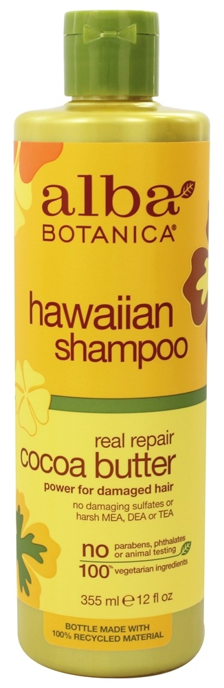 Alba Botanica - Natural Hawaiian Shampoo Cocoa Butter - 12 oz. (formerly Hair Wash Dry-Repair)