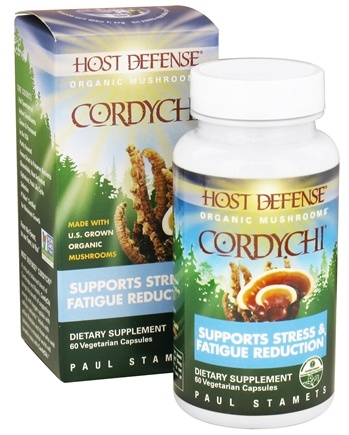 DROPPED: Fungi Perfecti - Host Defense CordyChi Breathing Support - 60 Vegetarian Capsules CLEARANCE PRICED