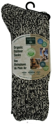 DROPPED: Earth Therapeutics - Organic Outdoor Socks Men's Size 10-13 Brown - CLEARANCE PRICED
