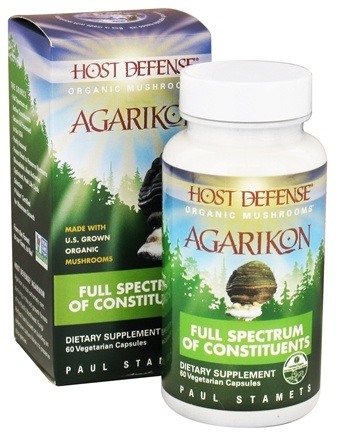 Fungi Perfecti - Host Defense Agarikon Vitality Support - 60 Vegetarian Capsules