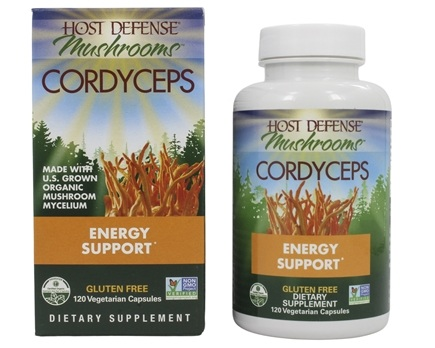 Fungi Perfecti - Host Defense Cordyceps Energy Support - 120 Vegetarian Capsules