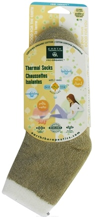 DROPPED: Earth Therapeutics - Organic Thermal Socks with Shea Butter Moisture Sizes 5-11 Beige - CLEARANCE PRICED