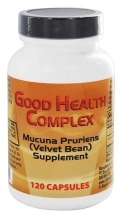 Libido Edge Labs - Good Health Complex Mucuna Pruriens (Velvet Bean) Supplement - 120 Vegetarian Capsules formerly GH Complex