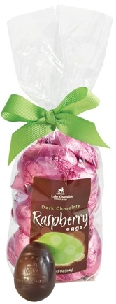 DROPPED: Lake Champlain Chocolates - Easter Eggs Gift Bag Dark Chocolate Raspberry - 6.5 oz. CLEARANCE PRICED