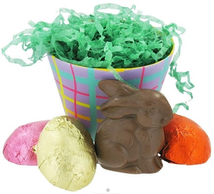 DROPPED: Lake Champlain Chocolates - Assorted Potted Easter Bunny and Eggs Basket - 1.95 oz. CLEARANCE PRICED