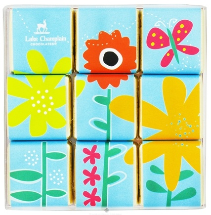 DROPPED: Lake Champlain Chocolates - Assorted Easter Chocolate Spring Squares Dark and Milk Chocolate - 3.6 oz. CLEARANCE PRICED