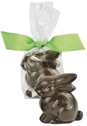 DROPPED: Lake Champlain Chocolates - Placesetting Easter Bunny Dark Chocolate 1.75 inches - 0.6 oz. CLEARANCE PRICED