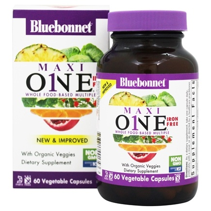 Bluebonnet Nutrition - Maxi One Iron-Free - 60 Caplets