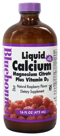 Bluebonnet Nutrition - Liquid Calcium Magnesium Citrate Natural Raspberry Flavor - 16 oz.