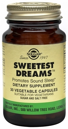 DROPPED: Solgar - Sweetest Dreams - 30 Vegetarian Capsules CLEARANCE PRICED