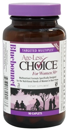 Bluebonnet Nutrition - Targeted Multiples Age-Less Choice For Women 50+ - 90 Caplets
