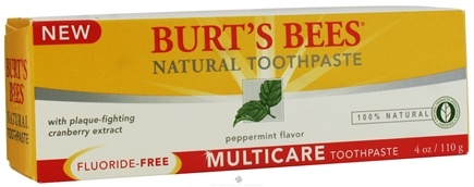 DROPPED: Burt's Bees - Natural Toothpaste Multicare Fluoride-Free Peppermint - 4 oz.