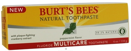 Burt's Bees - Natural Toothpaste Multicare Fluoride Peppermint - 4 oz.