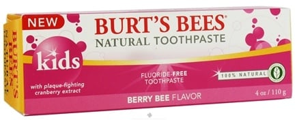 DROPPED: Burt's Bees - Natural Toothpaste Kids Fluoride-Free Berry Bee - 4 oz. CLEARANCE PRICED