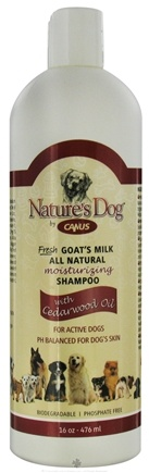 DROPPED: Canus - Nature's Dog Fresh Goat's Milk Moisturizing Shampoo with Cedarwood Oil - 16 oz. CLEARANCE PRICED