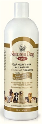 DROPPED: Canus - Nature's Dog Fresh Goat's Milk Oatmeal Shampoo with Lavender & Cedarwood Oils - 16 oz. CLEARANCE PRICED