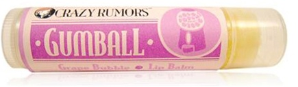 DROPPED: Crazy Rumors - Gumball Lip Balm Grape Bubble - 0.15 oz. CLEARANCE PRICED