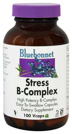 Bluebonnet Nutrition - Stress B-Complex High Potency - 100 Vegetarian Capsules