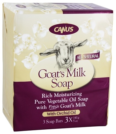 DROPPED: Canus - Goat's Milk Bar Soap with Orchid Oil - 3 x 5 oz. Soap Bars