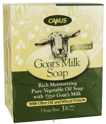 DROPPED: Canus - Goat's Milk Bar Soap with Olive Oil and Wheat Protein - 3 x 5 oz. Soap Bars CLEARANCE PRICED