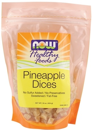 DROPPED: NOW Foods - Healthy Foods Pineapple Dices - 16 oz. CLEARANCE PRICED