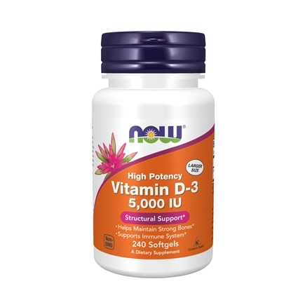 NOW Foods - Vitamin D-3 Highest Potency 5000 IU - 240 Softgels