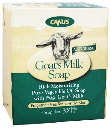 DROPPED: Canus - Goat's Milk Bar Soap Fragrance Free - 3 x 5 oz. Soap Bars