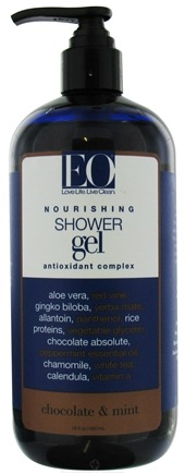 DROPPED: EO Products - Shower Gel Nourishing Antioxidant Complex Chocolate & Mint - 16 oz. CLEARANCE PRICED