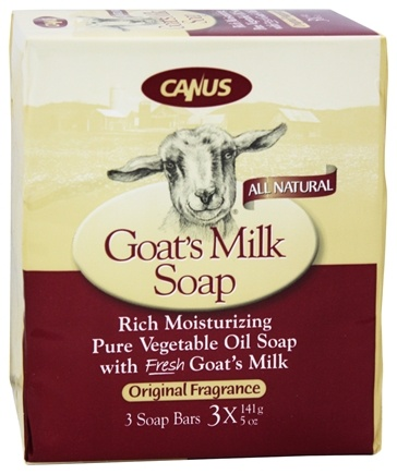 DROPPED: Canus - Goat's Milk Bar Soap Original Fragrance - 3 x 5 oz. Soap Bars