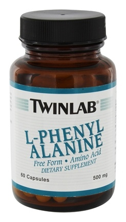 DROPPED: Twinlab - L-Phenyl Alanine - 60 Capsules CLEARANCE PRICED