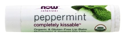 NOW Foods - Solutions Completely Kissable All Natural Lip Balm Peppermint - 0.15 oz.