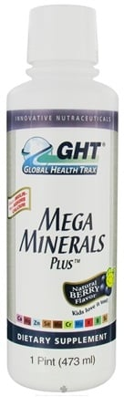 DROPPED: Global Health Trax (GHT) - Mega Minerals Plus Berry Flavor - 473 ml.