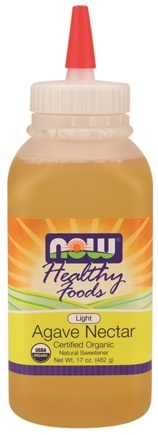 DROPPED: NOW Foods - Healthy Foods Agave Nectar Light Certified Organic - 17 oz.