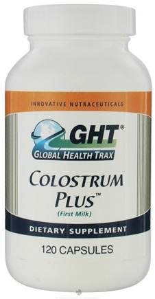 DROPPED: Global Health Trax (GHT) - Colostrum Plus - 120 Capsules