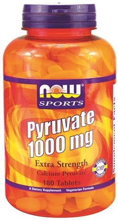 DROPPED: NOW Foods - Pyruvate Extra Strength 1000 mg. - 180 Tablets CLEARANCE PRICED