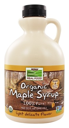 NOW Foods - Grade A Certified Organic  Maple Syrup - 32 oz.