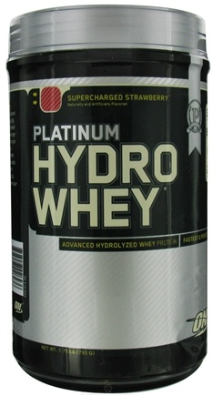 DROPPED: Optimum Nutrition - Platinum Hydro Whey Advanced Hydrolyzed Whey Protein Supercharged Strawberry - 1.75 lbs. CLEARANCE PRICED
