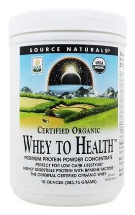 Source Naturals - Whey To Health Premium Protein Powder Concentrate Certified Organic - 10 oz.