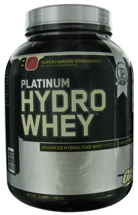 DROPPED: Optimum Nutrition - Platinum Hydro Whey Advanced Hydrolyzed Whey Protein Supercharged Strawberry - 3.5 lbs.