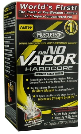 DROPPED: Muscletech Products - naNO Vapor Hardcore Pro Series - 150 Caplets CLEARANCE PRICED
