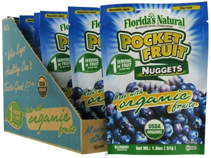 DROPPED: Florida's Naturals - Pocket Fruit Nuggets To Go Blueberry - 1.8 oz.