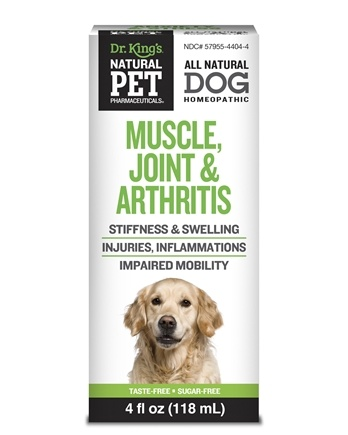 King Bio - Natural Pet Muscle, Joint & Arthritis Reliever For Canines Large - 4 oz.
