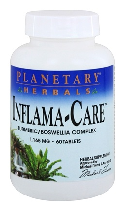 Planetary Herbals - Inflama-Care Turmeric/Boswellia Complex 1165 mg. - 60 Tablets