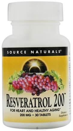 DROPPED: Source Naturals - Resveratrol 200 200 mg. - 30 Tablets CLEARANCE PRICED