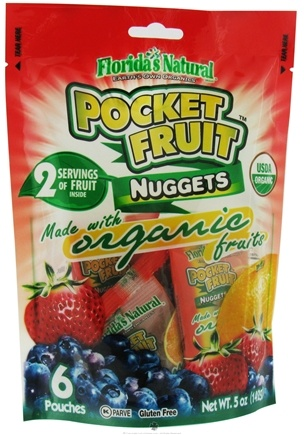 DROPPED: Florida's Naturals - Pocket Fruit Nuggets To Go 6 Pouches - 5 oz.