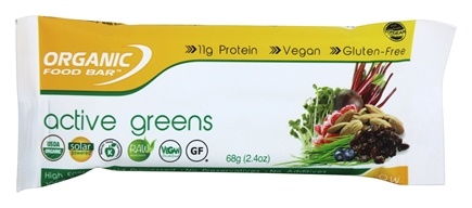 Organic Food Bar - Active Greens - 2.4 oz.