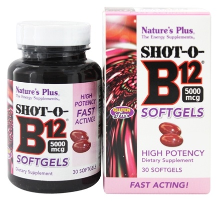 Nature's Plus - Shot-O-B12 High Potency 5000 mcg. - 30 Softgels